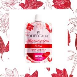 ORIENTANA - Maseczka GLOW Różowa z Wiśnią