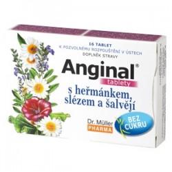 Dr Muller - Anginal tabletki na gardło z rumiankiem i szałwią